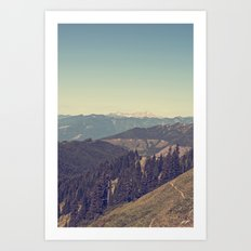 Last Days of Summer Hike Art Print