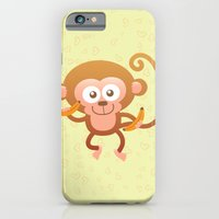 Lovely Baby Monkey Eatin… iPhone 6 Slim Case