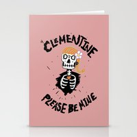 Oh, Clementine please be mine... Stationery Cards
