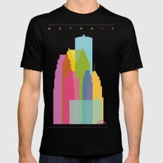 Shapes of Detroit Mens Fitted Tee Black SMALL