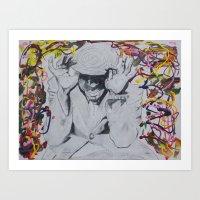 Yasiin Pollock Art Print