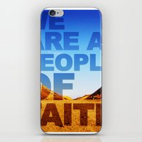 WE ARE A PEOPLE OF FAITH… iPhone & iPod Skin
