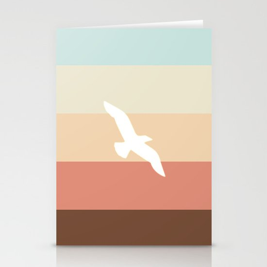 Out At Sea Series - Sun, Sand and Seagulls Stationery Card