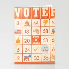 The Bingo Vote Stationery Cards