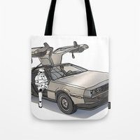 Stormtroooper In A DeLor… Tote Bag
