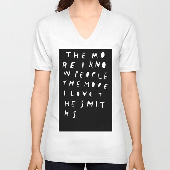 THE MORE I KNOW PEOPLE V-neck T-shirt
