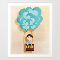 Flotando con mi imaginación Art Print