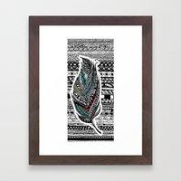 Aztec Feather. Framed Art Print