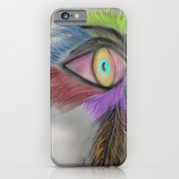 iPhone & iPod Case featuring Feather Eye by Imperfections