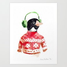 Winter Penguin Art Print