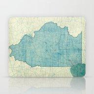 Illinois Map Blue Vintag… Laptop & iPad Skin