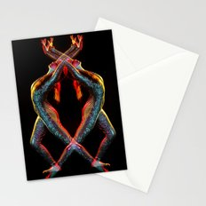Metallic Rainbow Dancer Stationery Cards