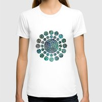 floral T-shirts featuring Floral Abstract 4 by Klara Acel