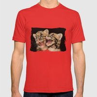 CLOUDED LEOPARD CUBS LOV… Mens Fitted Tee Red SMALL