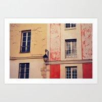 city scenery Art Print