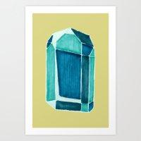 Water Crystal. Art Print
