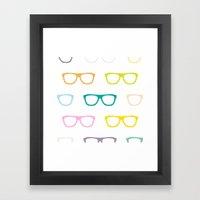 Colorful Specs Framed Art Print
