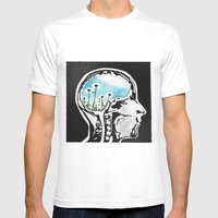 Brain Flowers Mens Fitted Tee White SMALL