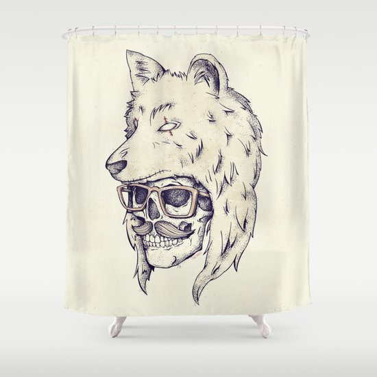 WOLF HAT Shower Curtain