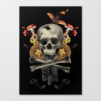 Hard Skull Canvas Print