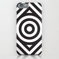 Stripes Circle Square Bl… iPhone 6 Slim Case
