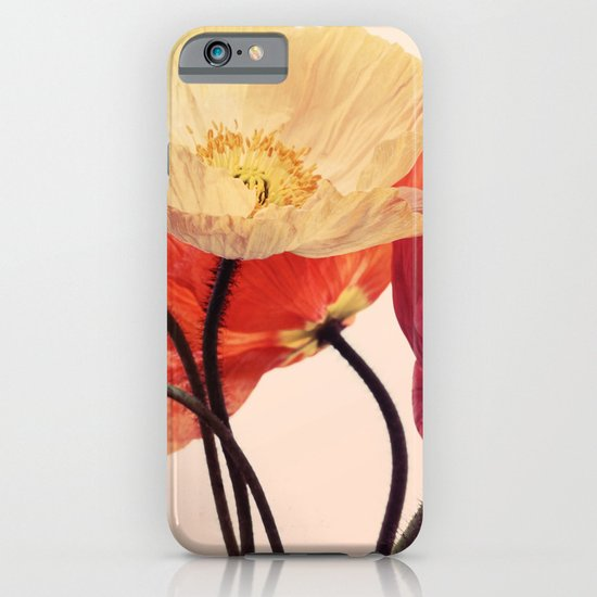 Posing Poppies - bright, vintage toned poppy still life iPhone & iPod Case