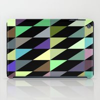 Tilted rectangles pattern iPad Case