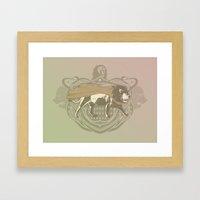 Fearless Creature: Leeoh Framed Art Print