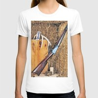 Winchester Rifle Womens Fitted Tee White SMALL