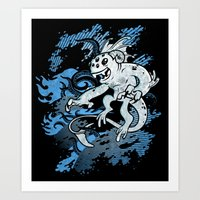 Interdimensional Icthy-demon Art Print