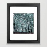 cold forest VI Framed Art Print