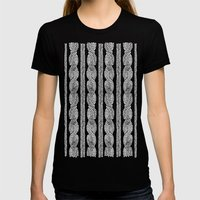 Cable Row B Womens Fitted Tee Black SMALL
