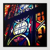 Canvas Print featuring Stained Glass 2 by kschweiz