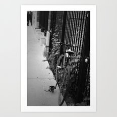 Lonely Bicycle Art Print