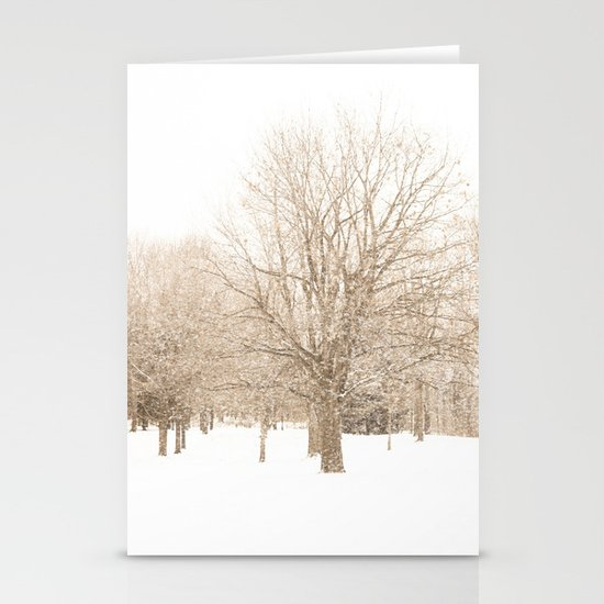 First Snow Stationery Card