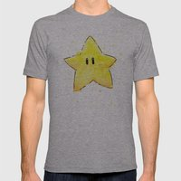 Invincibility Star Mens Fitted Tee Athletic Grey SMALL
