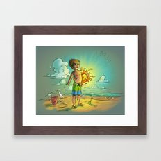 It's My Sun! Framed Art Print