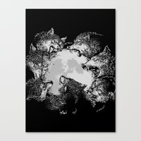 Moon Eaters Canvas Print