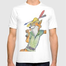 Robin Hood  Mens Fitted Tee White SMALL
