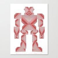 Jaeger //: Pixel Canvas Print
