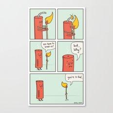 Relationship Fireworks Canvas Print
