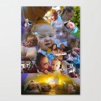 Tessa RFTW Rose remix II Canvas Print