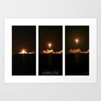 SpaceX Night Launch Art Print