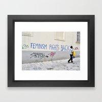 Feminism fights back Framed Art Print