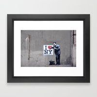 Banksy Doctor Checking O… Framed Art Print