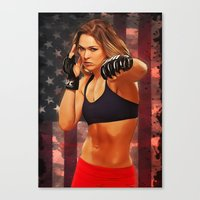 Ronda Rousey Canvas Print