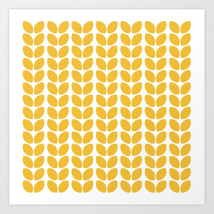 Sunday's Society6 | Yellow leaves pattern