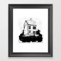 A House In Newfoundland Framed Art Print