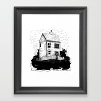 A House In Newfoundland Framed Art Print