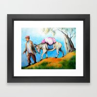 EYGENIA LOGVYNOVSKA, Greek village Framed Art Print